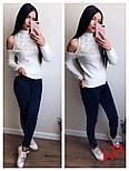 Женский стильный свитер с открытыми плечиками и жемчугом (5 цветов), фото 4