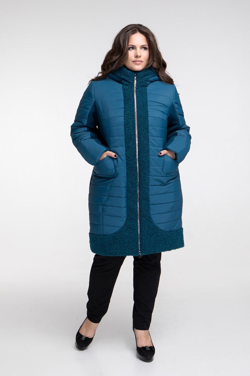 Пальто зимнее CR-648-GRN размер от 50 до 62