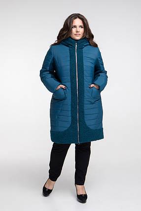 Пальто зимнее CR-648-GRN размер от 50 до 62, фото 2