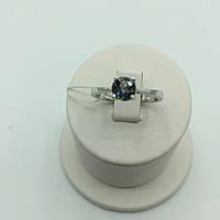 Серебряное кольцо мистик топаз, фианит