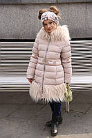 Стильное пальто с меховой отделкой, фото 1