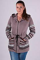 Модна кофта жіноча в'язана на блискавці 44-52, фото 2