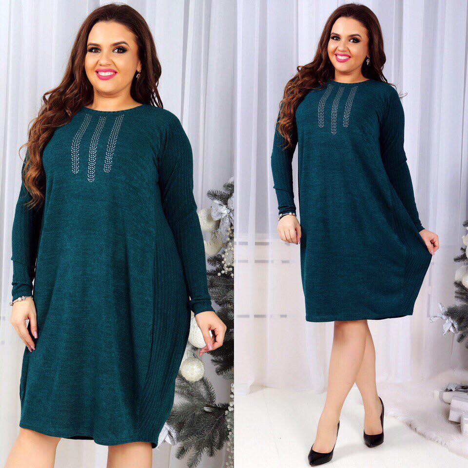 Платье БАТАЛ  ангора 121777