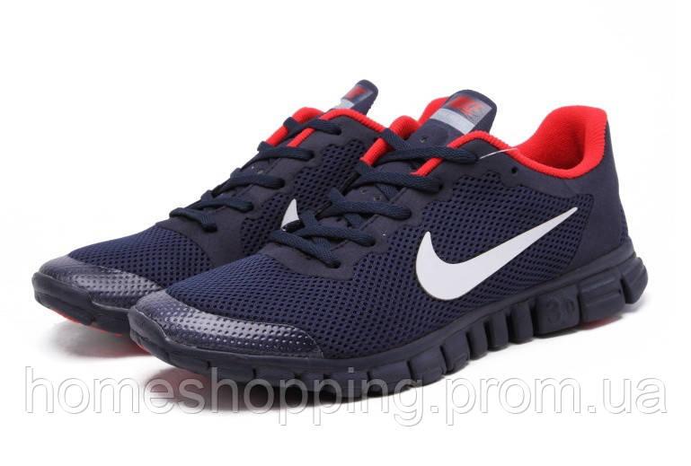 Кроссовки мужские Nike Free 3.0 V2 Dark Blue Red сине красные