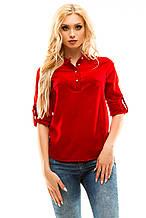 Блузка 270 красная