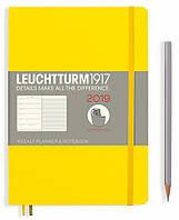 Еженедельник с заметками Leuchtturm1917 Мягкая обложка Средний A5 (14,5х21 см) Лимонный 2019, фото 1