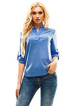 Блузка 270 голубая размер 46