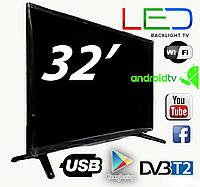 "Новый SMART TV Led телевизор Backlight TV L32"" ANDROID HD Ready (BS25)"