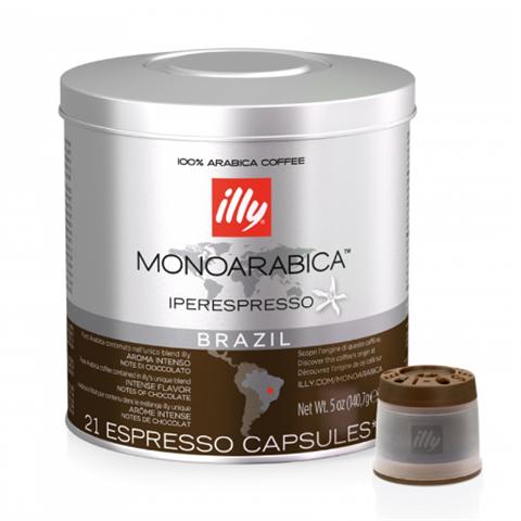 Кофе в капсулах ILLY IPSO Brazil Monoarabica ж/б, 21 шт (6,7г.)