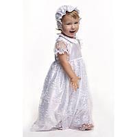Комплект крестильный для девочки с гипюром белый 03-00451-0