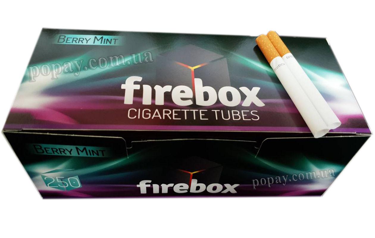 Гильзы для набивки сигарет Firebox Berry Mint  250 шт