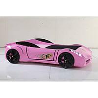 Детская кроватка-машинка Ferrari F1 розовая TITI Racing CAR BED (T1P)