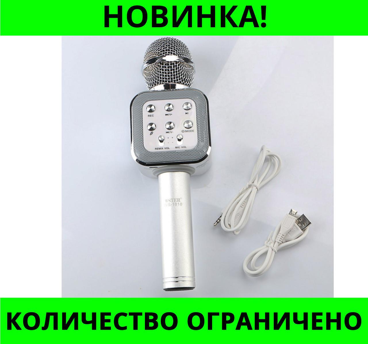 Беспроводная колонка - микрофон караоке Wster WS-1818!Розница и Опт