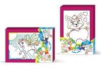 Раскраска с подсказкой Danko toys (10 штук в упаковке)