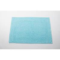 Полотенце для ног/коврик махровый отельный Lotus 50*70 (550 г/м2) бирюзовый