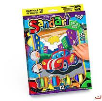 """Фреска из цветного песка """"Sand Art"""" Danko toys (10 штук в упаковке), фото 2"""