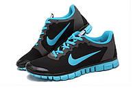 Кроссовки мужские Nike Free 3.0 V2 Grey Turquoise серо бирюзовые, фото 1