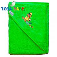 Полотенце махровое с капюшеном Tega Baby TG-071 Green