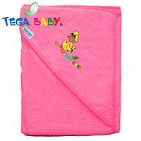 Полотенце махровое с капюшеном Tega Baby TG-071 Pink