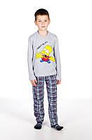 Пижама, кофта с брюками 2669 Goldi 122 Серый, фото 1