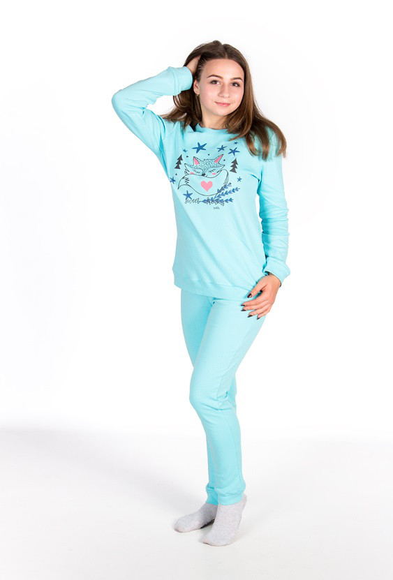 Пижама, кофта с брюками 89040 Goldi 146 Голубой