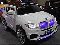 Детский электромобиль БМВ Х5 BMW X5 белый (черный, красный).С планшетом. M 2762 EBR-1. Колеса EVA, MP4, свет.