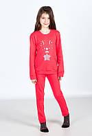 Пижама, кофта с брюками 89062 Goldi 140 Красный