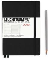 Еженедельник с заметками Leuchtturm1917 Средний A5 (14,5х21 см) Чёрный 2019 , фото 1
