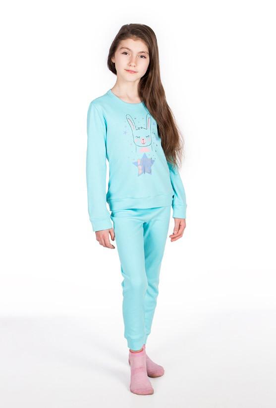 Пижама, кофта с брюками 89062 Goldi 128 Голубой