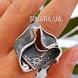 Женское серебряное кольцо без камней , фото 3