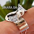 Женское серебряное кольцо без камней, фото 5