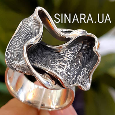 Женское серебряное кольцо без камней