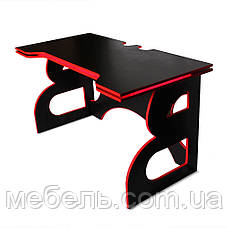 Школьный стол Barsky Homework Game Red HG-05 LED черный с красной кромкой и подсветкой, фото 3