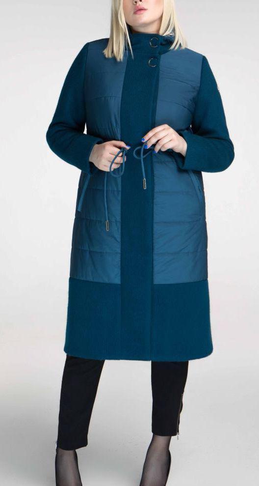 ПП Украина Стильное пальто   большого размера  Астана   от 48 до 62 размера