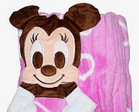 Детский плед Mickey с сердечками., фото 1