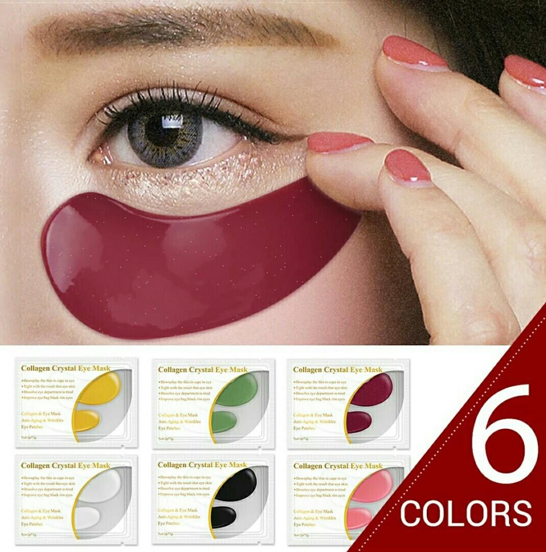 """Коллагеновые патчи (набор)  по уходу за кожей вокруг глаз COLLAGEN CRYSTAL от темных кругов и """"гусиных лапок"""""""