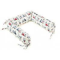 Борт для детской кроватки - 3 подушки Goforkid Брітіш стайл 25х60см 9801-204-008-1