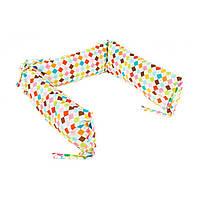Борт для детской кроватки - 3 подушки Goforkid Мозаїка 25х60см 9801-204-029-1