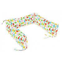 Борт для детской кроватки - 3 подушки Goforkid Увага - сови 25х60см 9801-204-038-1