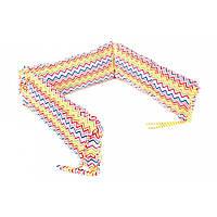 Борт для детской кроватки - 3 подушки Goforkid Яскраві хвилі 25х60см 9801-204-043-1