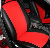 Авточехлы из экокожи Автолидер для  Opel Astra J с 2011-н.в. купе. (увеличенная поддержка передних сидений) черные с красным