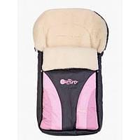 Спальный мешок на овчине Womar 24 zafirro графит с розовым 80008