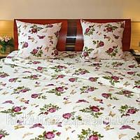 Двуспальный комплект постельного белья Бабочка бордо