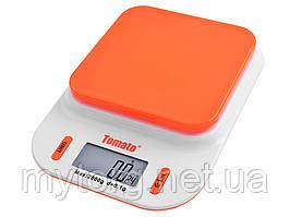 Весы кухонные 109, 2кг (0.1г), с датчиком температура  Оранжевый