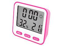 Термометр с гигрометром BK-854  Розовый, фото 1