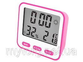Термометр с гигрометром BK-854  Розовый