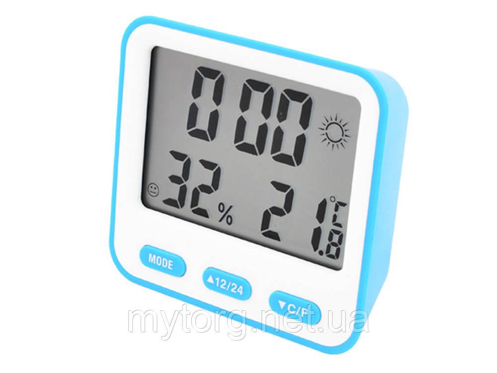 Термометр с гигрометром BK-854  Синий