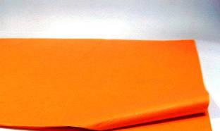 Бумага тишью оранжевая 50х70 см.