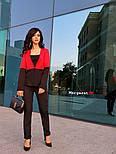 Женский двухцветный костюм: жакет и брюки (4 цвета), фото 5