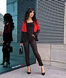 Женский двухцветный костюм: жакет и брюки (4 цвета), фото 8